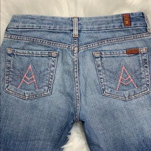 7 For All Man Kind Crop Capri Jeans Size 26